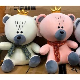Мишка с короной - мягкая плюшевая игрушка..