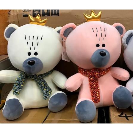 Мишка с короной - мягкая плюшевая игрушка