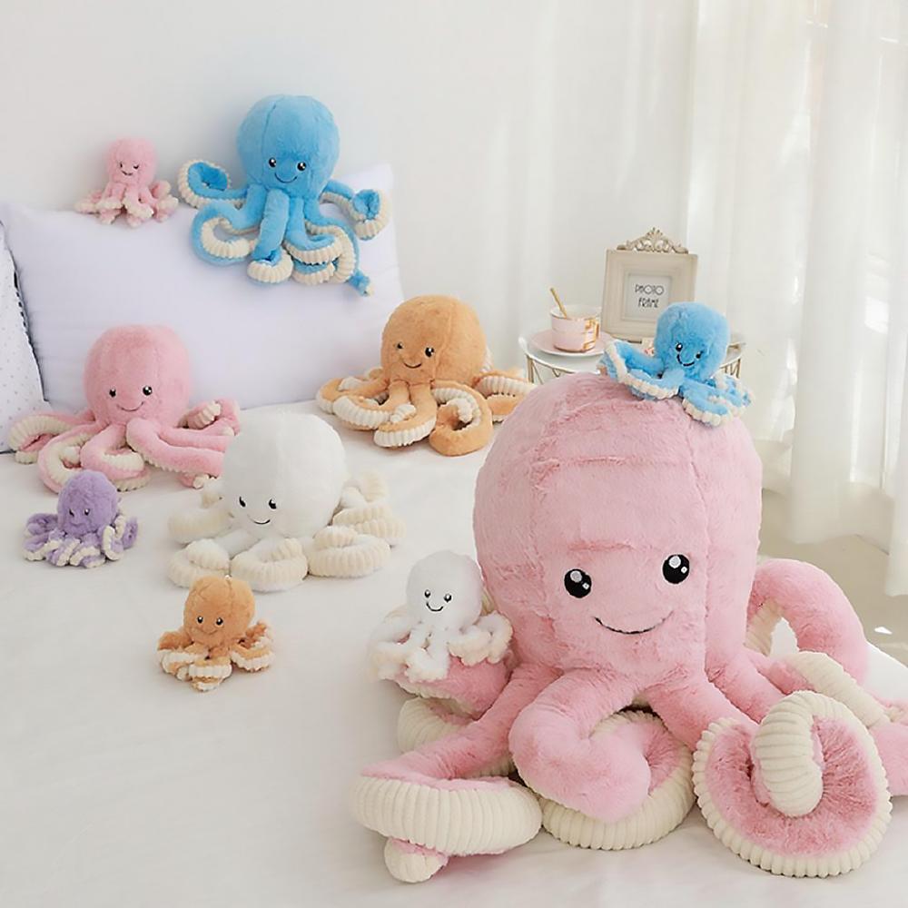 Плюшевый осьминог - мягкая плюшевая игрушка 40 и 60 см.