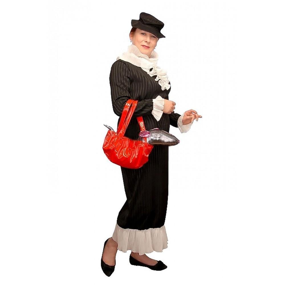 Карнавальный взрослый костюм Шапокляк