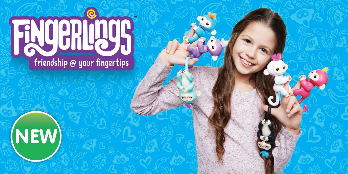 fingerlings monkey - интерактивная ручная обезьянка игрушка