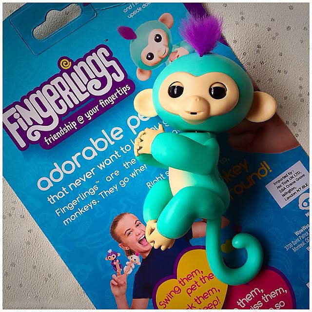 fingerlings baby monkey - интерактивная ручная обезьянка игрушка