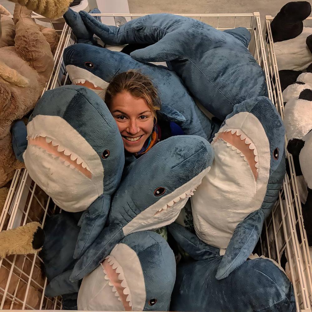 Акула из Икеи (Блохэй) - мягкая плюшевая игрушка акула