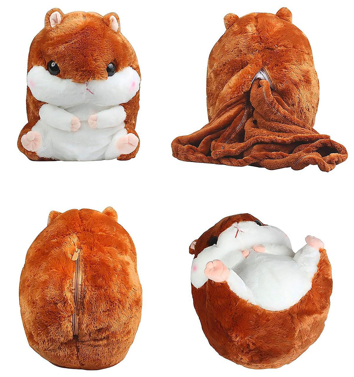 іграшка-подушка з пледом Хом'як